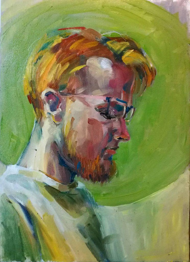 portret rudego mężczyzny