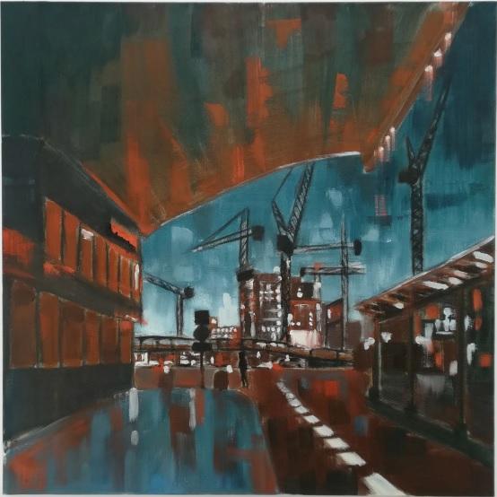 wakacje malarstwo olejne warszawa