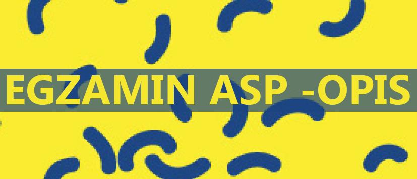 Opis egzaminów wstępnych na ASP